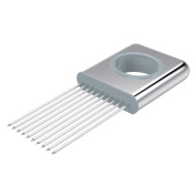 Nuovoware Onion Holder, All-in-one Stainless Steel Easy Onion Holder Slicing
