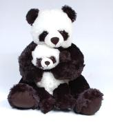 46cm Mommy And Baby Panda Plush
