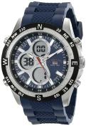 U.s. Polo Assn. Sport Men's Us9137 Blue Silicone Analogue Digital Sport Watch