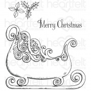 Heartfelt Creations Celebrate The Season - Ornate Sleigh Stamp Set - Hcpc-3745