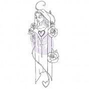 Jamie Dougherty Creating In Faith Cling Stamps 5.7cm x 15cm -Mary