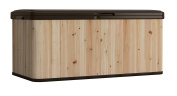 Suncast 454.2l Extra Large Wood and Resin Deck Box WRDB12000D