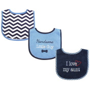 Luvable Friends 3 Piece Drooler Bibs With Fibre Filling For Boys, I Love Aunt