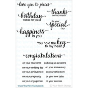 Your Next Stamp Clear Stamps 10cm x 10cm -Whatnot Sentiment Set Four