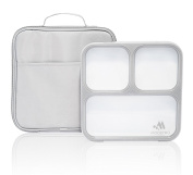 Modetro Slim Lunch Boxes for Adults - Leakproof Bento Box with Compartments - Insulated Lunch Bag - Great for Portion Control.