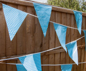 Openbox Baby Blue Polka Dot Bunting Flags For Boy Baby Shower Party C1011 By