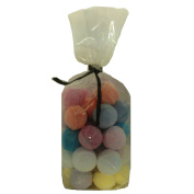 30 x Random Scented Bath Marbles Fizzers Mini Bombs (10g Each) Free Gift Bag