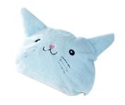 Super Absorbent Bath Cap Wipes Dry Towel Children Shower Cap,Cat,Light Blue