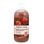 Fresh Juice Creamy shower gel Chocolate and Strawberry extracts 500ml