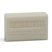 French Soap, Traditional Savon de Marseille - Lily Flower (Fleur de Lys) 125g