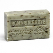 French Soap, Traditional Savon de Marseille - Crushed Rosemary (Romarin Broye) 125g