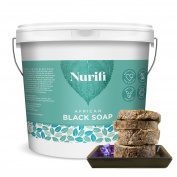 Nurifi African Black Soap - 250g - made from Coconut Oil and Shea Butter