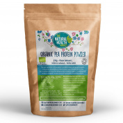 Organic Pea Protein Powder 250g By The Natural Health Market • 80% Protein Isolates • Vegan Protein Powder • Soil Association Organic Certified • NON-GMO • NON-Irradiated • Whole Raw Pea Protein Powder Nutrition