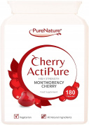 180 Cherry Actipure 100% Pure Montmorency Cherry 50% Higher Strength Than Most Brands For Best Results  100% Quality Assured Money Back Guarantee  Free UK Delivery