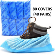 Simply Direct Heavy Duty Tear Resistant Reusable Overshoes In Blue - Quantity Choices