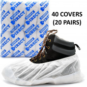 Simply Direct Heavy Duty Tear Resistant Reusable Overshoes In White - Quantity Choices