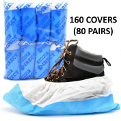 Simply Direct Heavy Duty Tear Resistant Reusable Overshoes In Blue/White - Quantity Choices