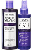 (2 PACK) Provoke Touch of Silver Brightening Shampoo x 200ml & Provoke Touch of Silver Pre Toning Primer x 150ml