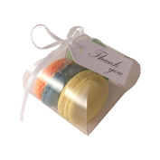 Clear macaroon box for 3 macaroons - wrap design