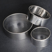 Gemini_mall® 3 Pcs Stainless Steel Round Circle Cookie Fondant Cake Moulds Cutters