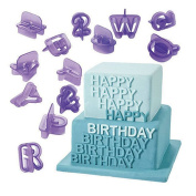 Gemini_mall® Fondant Alphabet Cutters for Cake Decorating - 40 Pcs - Cake Letter Cutters - Icing Cutout Decorating Set