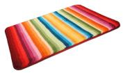 MS 'Funkee' Luxury Soft Multicolour Bathroom Mat - Bath Rug