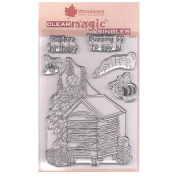 Woodware A6 Clear Cling Stamps - JGS515 Bee Happy