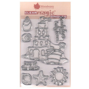 Woodware A6 Clear Cling Stamps - JGS518 The Sandcastle