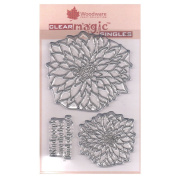 Woodware A6 Clear Cling Stamps - JGS513 Bold Blooms - Delilah