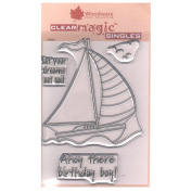 Woodware A6 Clear Cling Stamps - JGS520 Set Sail
