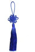 Feng shui Blue Chinese Knot Chain Enless Knot mystic knot Feng Shui infinity Tassel --good for peace
