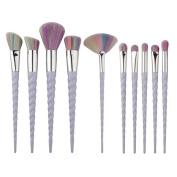 HENGSONG Unicorn Make-up Brush Set Foundation Eyebrow Eyeliner Blush Cosmetic Concealer, 10PCS /Set