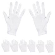 Aboat 6 Pairs Hand Moisturising Gloves,White Cotton Gloves for Moisturising