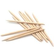 100 x Manicure Sticks Nail Art Design Wood Stick Cuticle Pusher Remover Care