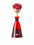 """'Vigar Home Dish Brush Dolls Red Lace C/Dress Red, Black, Lace """""""