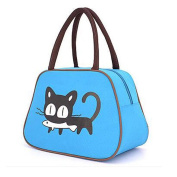 Muitifunction Canvas Bento Lunch Bag for Picnic Travel Tote Lunch Bag with Zipper Cute Cat Stylish