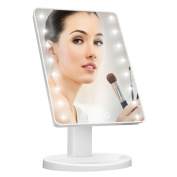 Makeup Light Mirror, Charminer 16 LEDs Touch Light Illuminated Cosmetic Desktop Vanity Mirror with Stand,Handy Touching On/Off