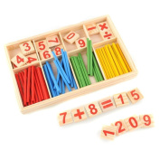 ODN Wooden Number Sticks Mathematics Material Educational for Kid Child