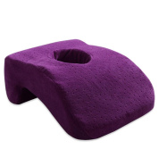 Memory pillow slow rebound office seat cushions student nap pillow , purple