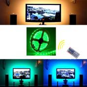 LED Strip Lights Kit 2m SHHE Flexible Wateproof 5V 5050 RGB USB LED Strip Light TV Background Lighting Led Tape Light with 44 Key Remote