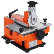 """Happybuy Semi-automatic Sheet Embosser 2~4 Characters per Second Metal Embosser Working Plate 7.8""""5.3"""" Embossing Label Maker Machine with 4mm Aluminium Plate Metal Tag Plate Dog Tag Printer"""