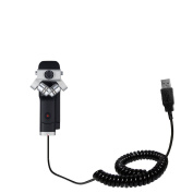 Unique Gomadic Coiled USB Charge and Data Sync cable compatible with Zoom Q8 Handy Video Recorder - Charging and HotSync functions with one cable. Built with TipExchange
