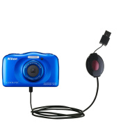 USB Power Port Ready retractable USB charge USB cable wired specifically for the Nikon Coolpix S33 and uses TipExchange