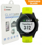 Maxhood (1-PACK) Garmin Forerunner 935 Screen Protector Glass, 9H Hardness 0.3mm Ultra-Thin 2.5D Round Edge Tempered Glass Screen Protector for Garmin 935