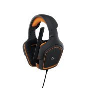 Logitech G231 Prodigy Gaming Stereo Headphones with Mic for PC, Xbox One and PS4 - Black/Orange