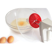 1 Piece 29.8 cm Silicone Splatter Screen Baking Mixing Bowl Guard Covers Pots, Shields From Splatter Sprays, Avoids Spill