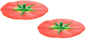 Charles Viancin Airtight Silicone Drink Covers, Set of 2, Tomato