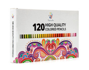 Positive Art Coloured Pencils 120 Unique Colours—Perfect for adult colouring books,Drawing, Sketching, and Crafting Projects — Bold,Vibrant Colours —3.3mm Precision Tips
