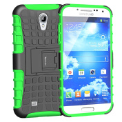 Case For Galaxy S4,Slim Heavy Duty Rugged Dual Layer Hybrid Armour Proctective Case For Samsung Galaxy S4 IV i9500 with Built-in Kickstand