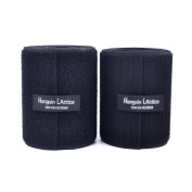 """10CM Wide(Approx 4"""") 2 Metre Long Sew On Hook And Loop Strips Set With Non-Adhesive Back Nylon Fabric Fastener Black"""